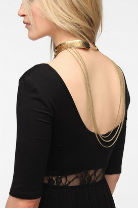 Urban Outfitters Front & Back Studded Collar Necklace