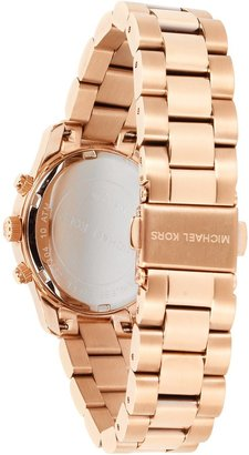 Michael Kors Runway Rose Gold Plated Stainless Steel Bracelet Women's Watch