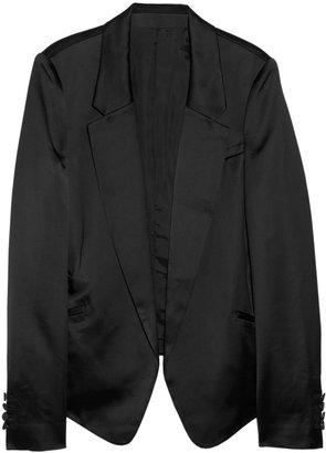 Alexander Wang Satin tuxedo jacket