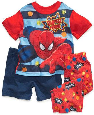 Spiderman AME Toddler Boys' 3-Piece Pajamas