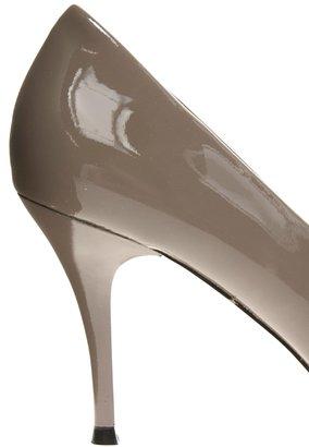 Dune Aimee Grey Patent Heeled Shoe
