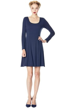 Alice + Olivia Ricci Fitted Flare Sleeve Shift Dress
