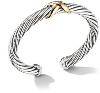 David Yurman X Crossover Bracelet With 14K Yellow Gold