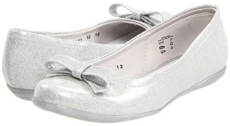 Kid Express Selena (Toddler/Youth) (Silver Glitter Patent) - Footwear