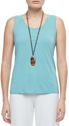 Eileen Fisher Stretch Silk Jersey Tank $98 thestylecure.com