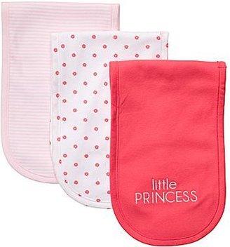 Carter's 3-pk. Pink and Poppy Burp Cloths - Girls