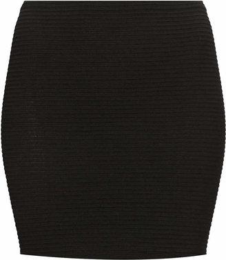 Topshop Ribbed bodycon mini skirt