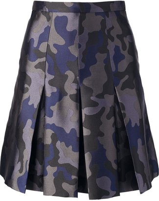 Christopher Kane pleated camouflage skirt