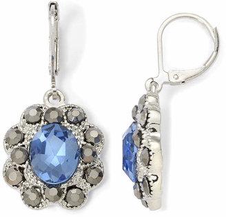 9fecf540c1c5e5 MONET JEWELRY Monet Blue Glass & Marcasite Drop Earrings. JCPenney ...