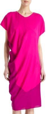 Narciso Rodriguez Cap Sleeve Side Drape Dress
