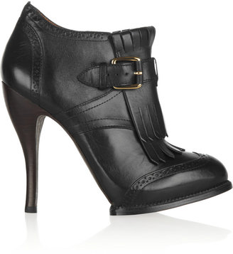 McQ by Alexander McQueen Fringed leather ankle boots