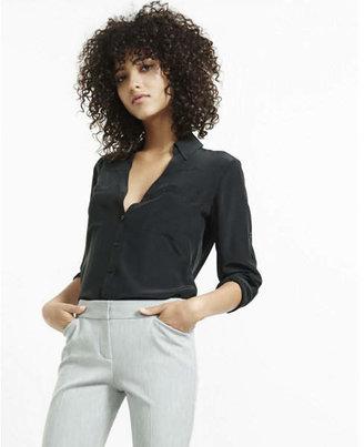 Express Original Fit Convertible Sleeve Portofino Shirt $49.90 thestylecure.com