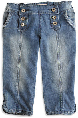Sorbet Denim Button Front Capris