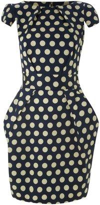 Closet Big polka tie back dress