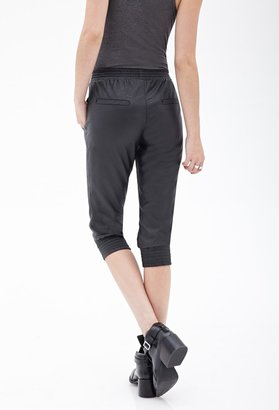 Forever 21 FOREVER 21+ Faux Leather Capri Joggers