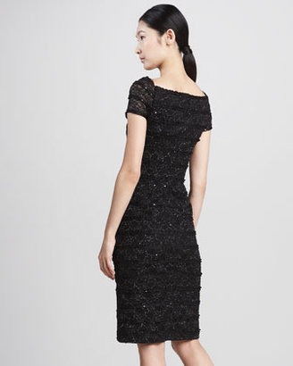 David Meister Sequined Sweetheart Cocktail Dress