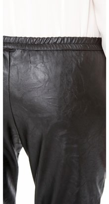 Heidi Merrick Faux Leather Sweatpants