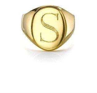 Sarah Chloe Gold Plated Lana Signet Ring