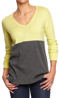Old Navy Women's Color-Block Lightweight Sweaters