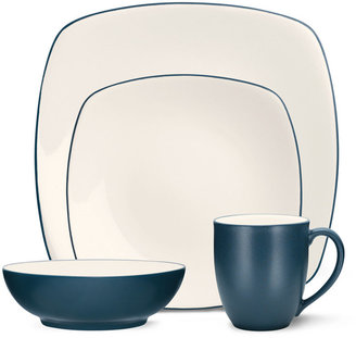 Noritake Dinnerware, Colorwave Blue Square 4 Piece Place Setting