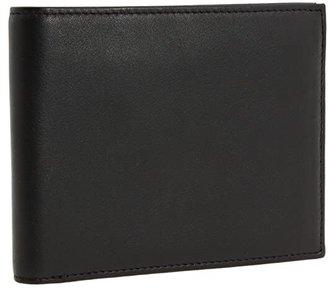 Bosca Nappa Vitello Collection - Continental ID Wallet (Black Leather) Bi-fold Wallet