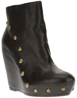Vic Matié stud detail wedge ankle boot