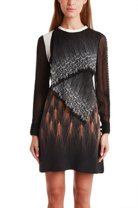 3.1 Phillip Lim Wheat-Print Silk Dress