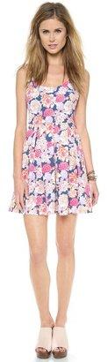 MinkPink Floral Frenzy Box Pleat Dress