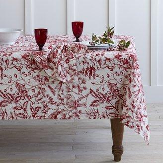 Williams-Sonoma Holiday Toile Tablecloth
