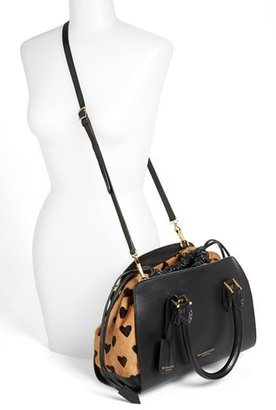 Burberry 'Dinton - Small' Leather & Calf Hair Satchel