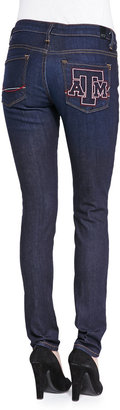 OCJ Denim Texas A&MÂ Branded Skinny Jeans, Blue