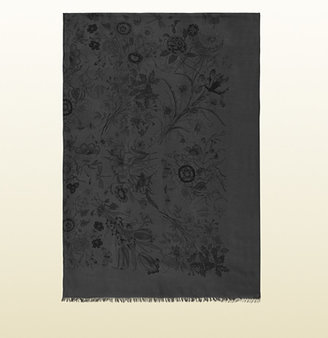 Gucci Printed Silk Modal Blend Stole