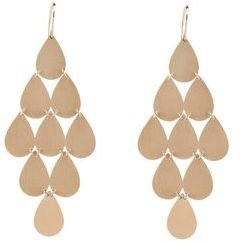 Irene Neuwirth Large Teardrop Chandelier Earrings - Rose Gold