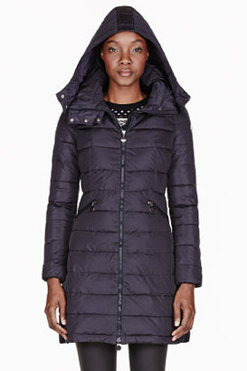 Moncler Navy quilted down Flamme coat