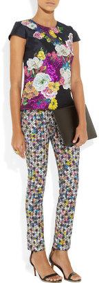 Erdem Melinda printed stretch-twill pants