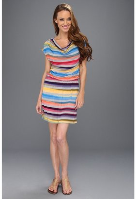 C&C California Ombre Stripe Cowl Neck Dress (Imperial Blue) - Apparel