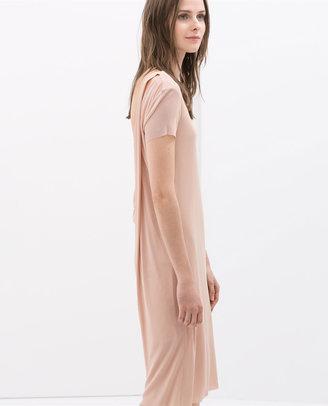 Zara Studio Dress With Back Slit