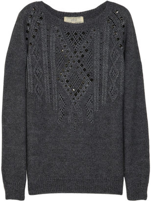Vanessa Bruno Studded cable-knit sweater
