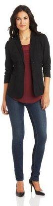 Chaus Women's Rouched Sleeve 2-Pocket Blazer