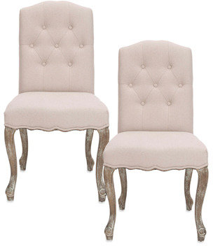 Safavieh Vicky Side Chair - Beige (Set of 2)