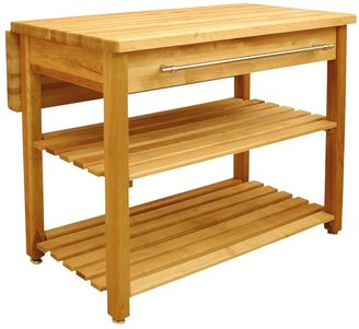 Catskill Craft contemporary harvest table with drop leaf