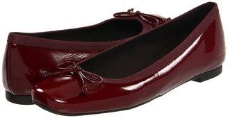 Stuart Weitzman Shoestring (Burgundy Aniline) - Footwear