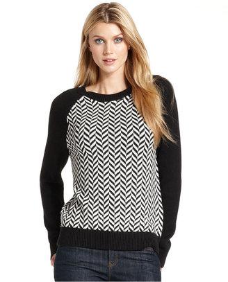 MICHAEL Michael Kors Sweater, Long-Sleeve Chevron Crew-Neck