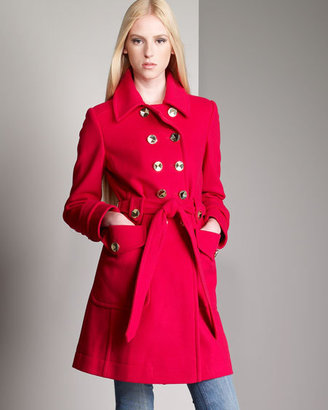 Marc by Marc Jacobs Wool Trench Coat, Red