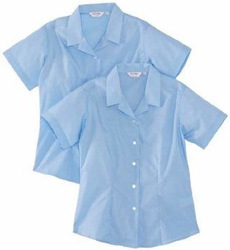 """Trutex Girl's, 2 pack, Fitted Easy Care Plain Blouse,(Manufacturer Size: 30"""" Chest)"""