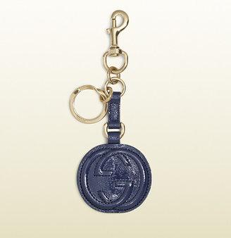 Gucci soft patent leather interlocking G key chain
