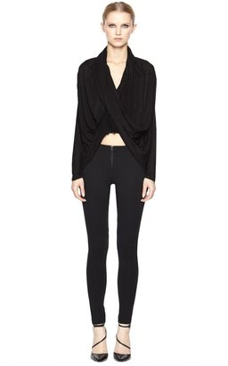 Alice + Olivia Exposed Front Zip Skinny Pant