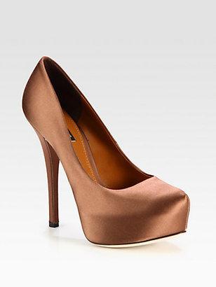 Dolce & Gabbana Satin Platform Pumps