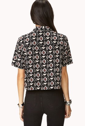 Forever 21 Southwest Bound Cropped Shirt