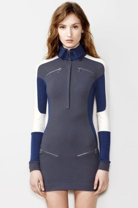 Lacoste Fashion Show Ski Color Block Dress With Zip Pockets